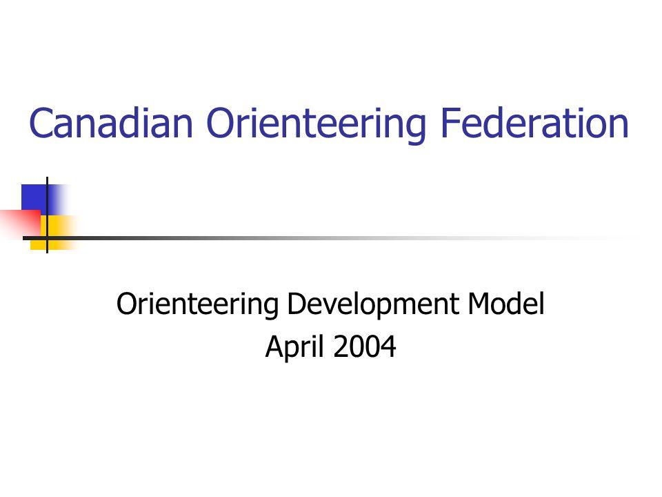 Canadian Orienteering Federation Orienteering Development Model April 2004