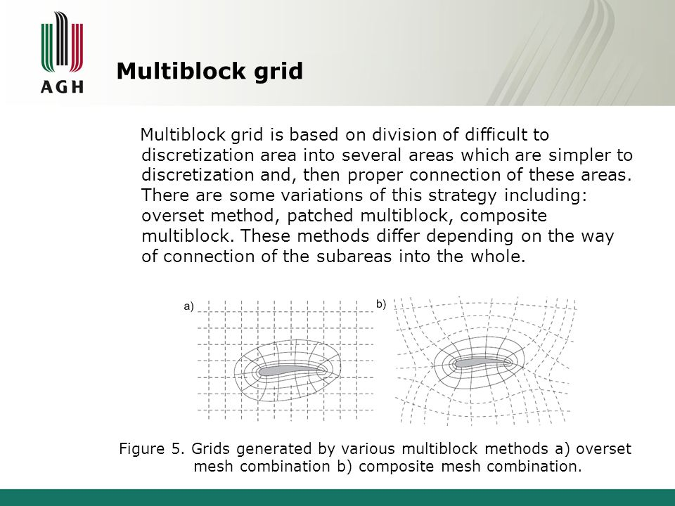 Multiblock grid Multiblock grid is based on division of difficult to discretization area into several areas which are simpler to discretization and, t