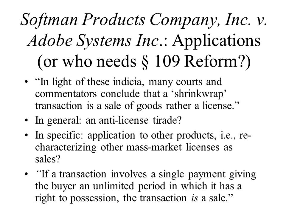 Softman Products Company, Inc. v.