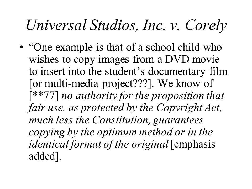 Universal Studios, Inc. v.