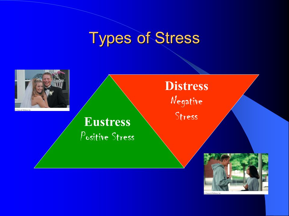 Types of Stress Distress Negative Stress Eustress Positive Stress