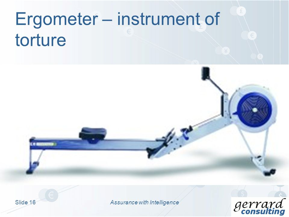 Ergometer – instrument of torture Assurance with IntelligenceSlide 16