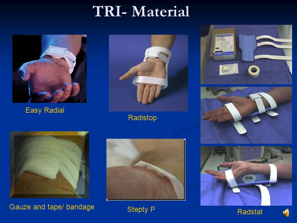 TRI- Material Radistop Radstat Stepty P Easy Radial Gauze and tape/ bandage