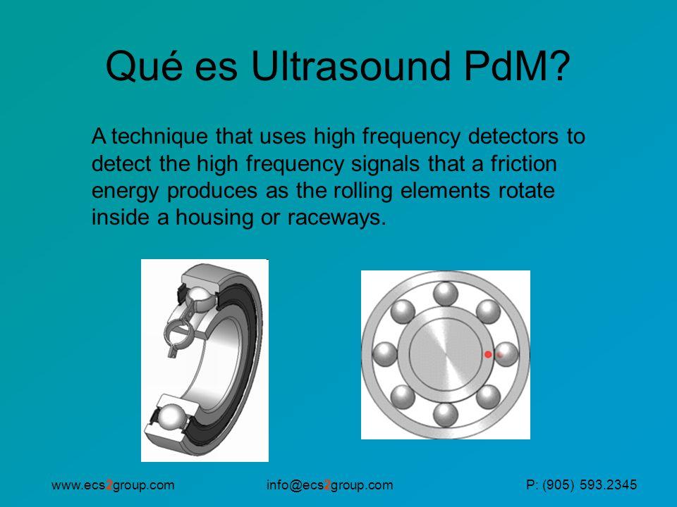 info@ecs2group.comwww.ecs2group.comP: (905) 593.2345 Qué es Ultrasound PdM.