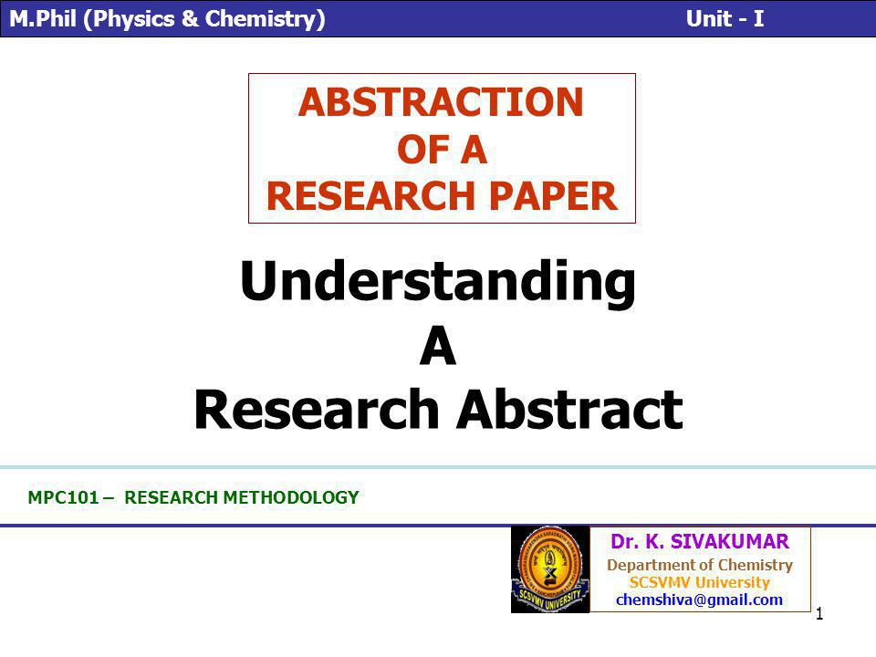 2 Objectives Know components of an abstract Able to read and understand the abstract Able to apply the knowledge to write the abstract of your teams research project