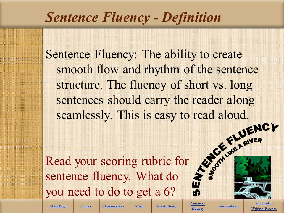 The Final Word – Word Choice Main PageIdeasOrganizationVoiceWord Choice Sentence Fluency Conventions Six Traits / Writing Process Click Back to Main P