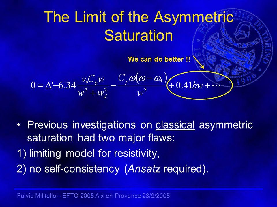 Fulvio Militello – EFTC 2005 Aix-en-Provence 28/9/2005 Simplified Model Equations Vorticity equation: Ohms law: Energy equation