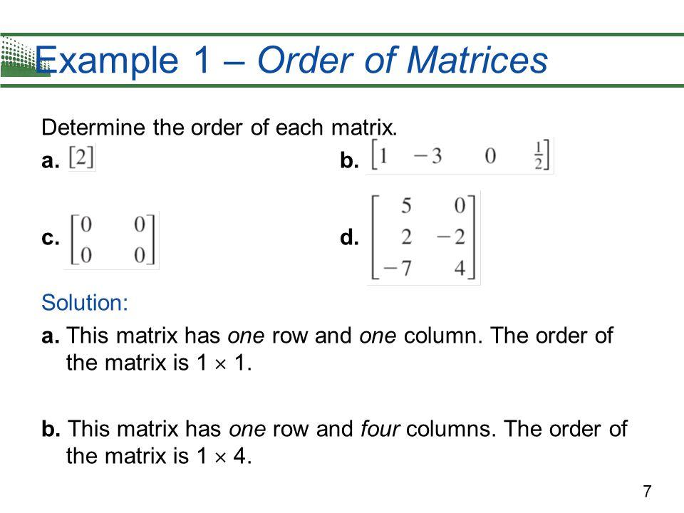 18 Example 3 – Elementary Row Operations c.