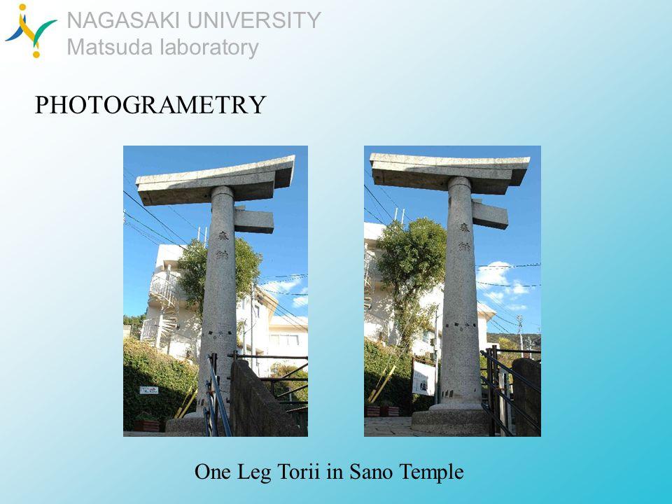 NAGASAKI UNIVERSITY Matsuda laboratory PHOTOGRAMETRY One Leg Torii in Sano Temple