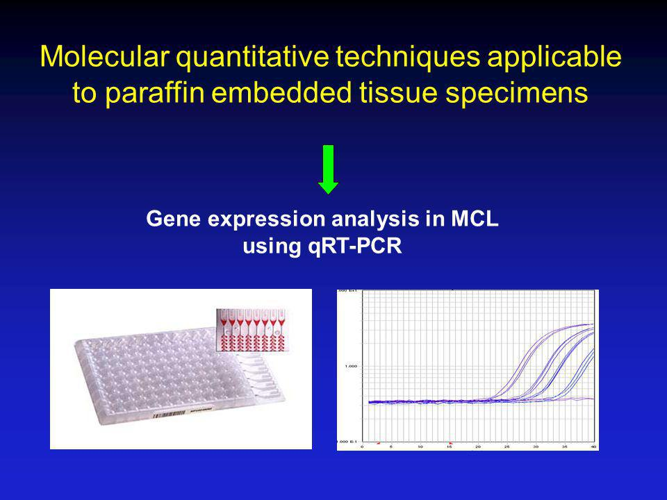Molecular quantitative techniques applicable to paraffin embedded tissue specimens Gene expression analysis in MCL using qRT-PCR