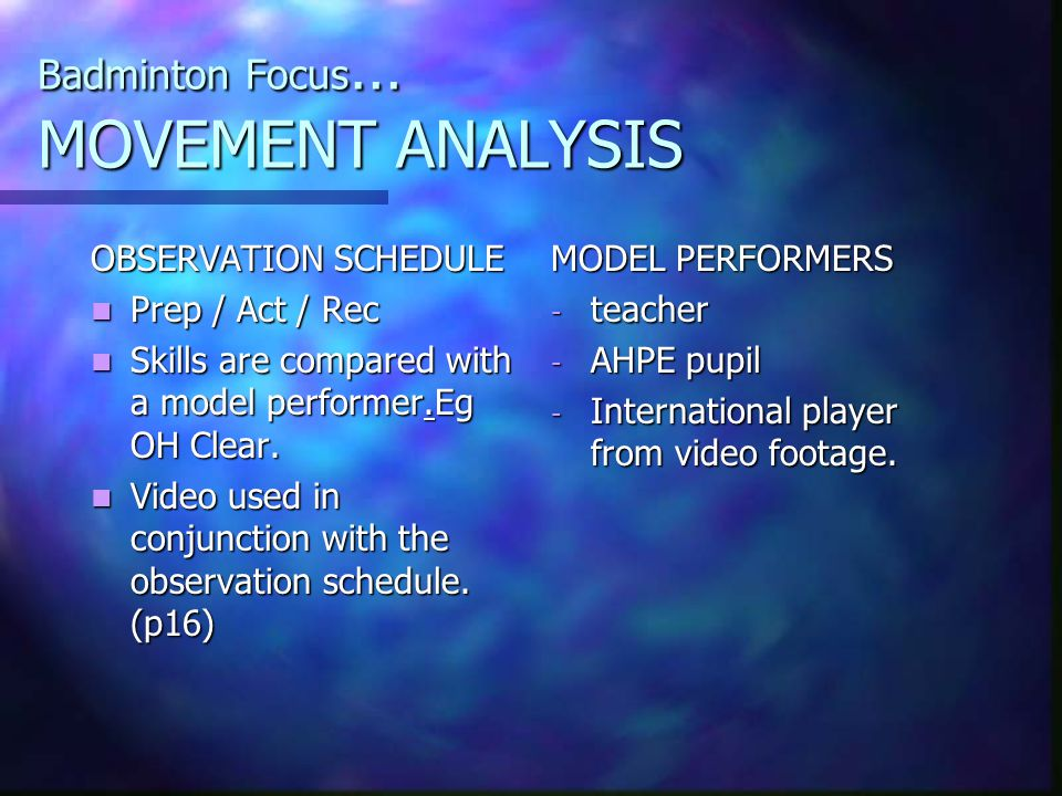 What is Movement Analysis.