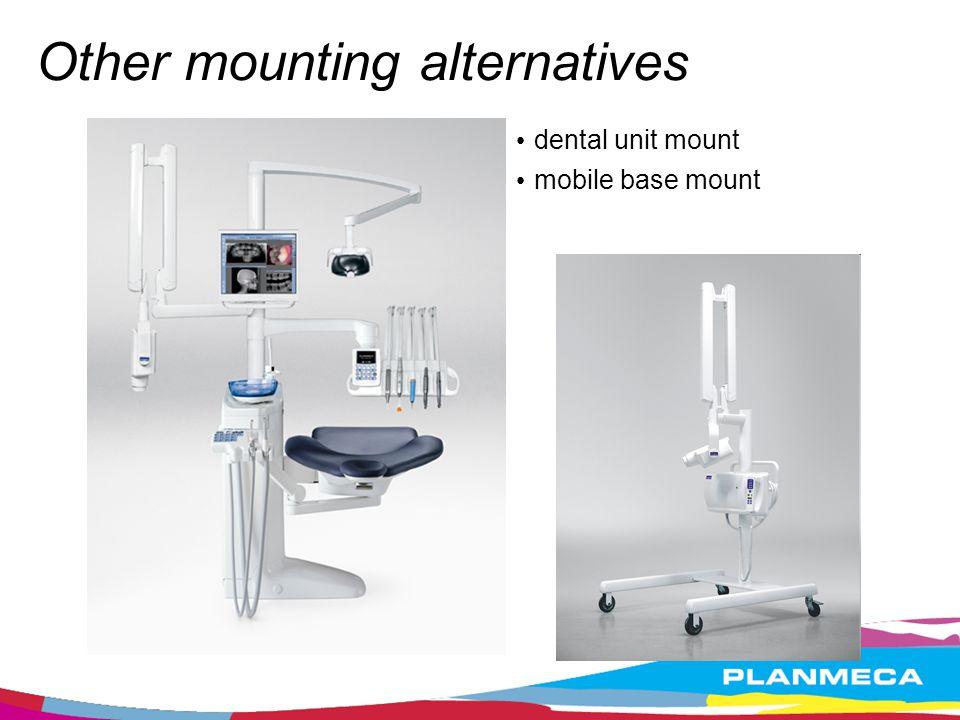 Other mounting alternatives dental unit mount mobile base mount