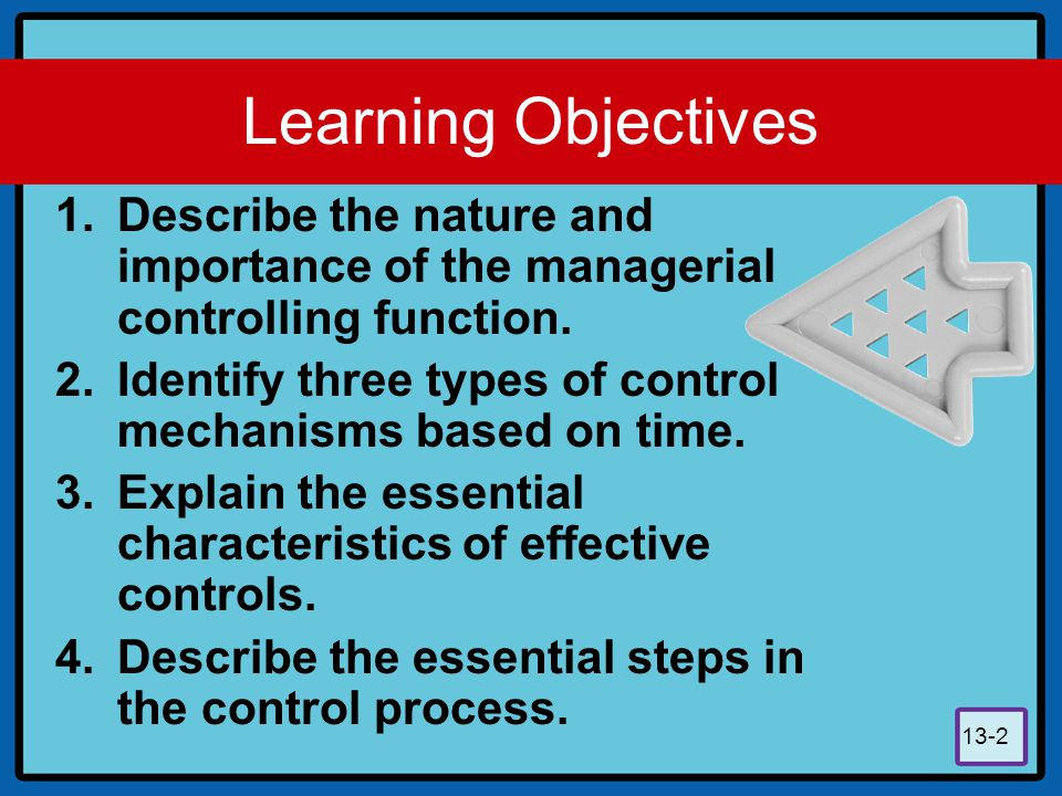 13-3 Learning Objectives 5.Discuss the supervisors role in controlling through budgets.