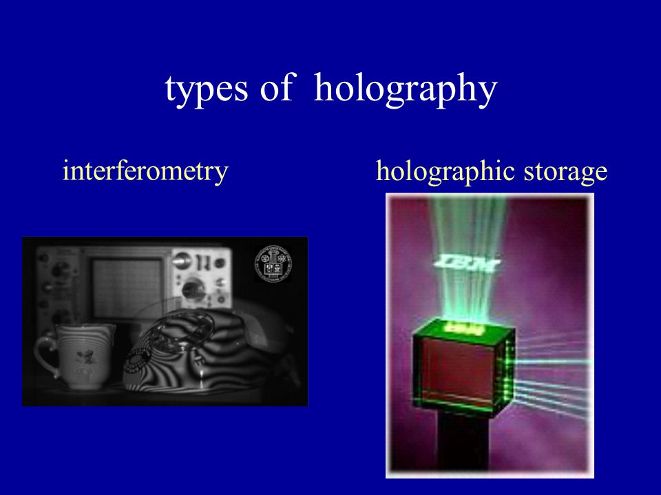 types of holography display holography holographic video