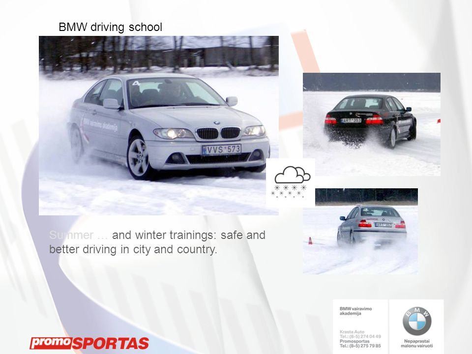 Summer … and winter trainings: safe and better driving in city and country.