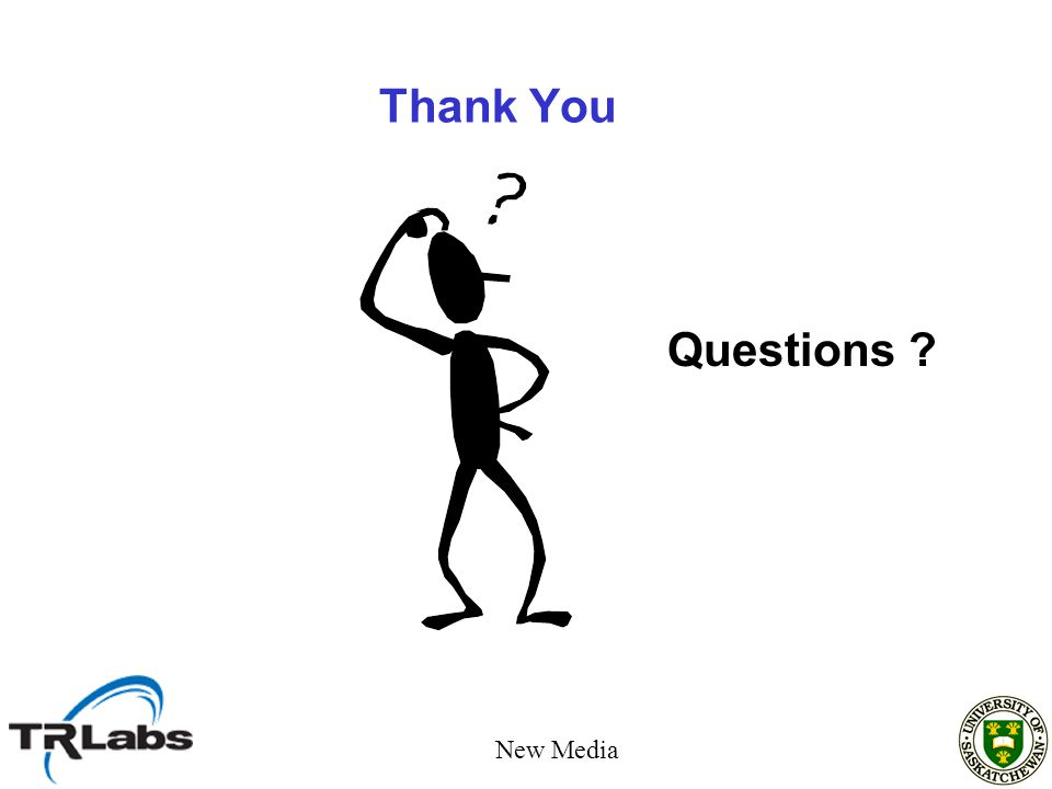 Thank You Questions New Media