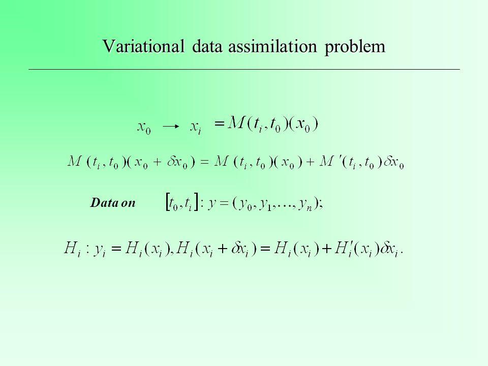 Variational data assimilation problem