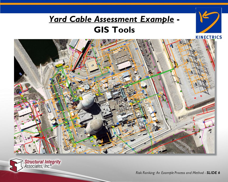 Risk Ranking: An Example Process and Method - SLIDE 6 Yard Cable Assessment Example - GIS Tools