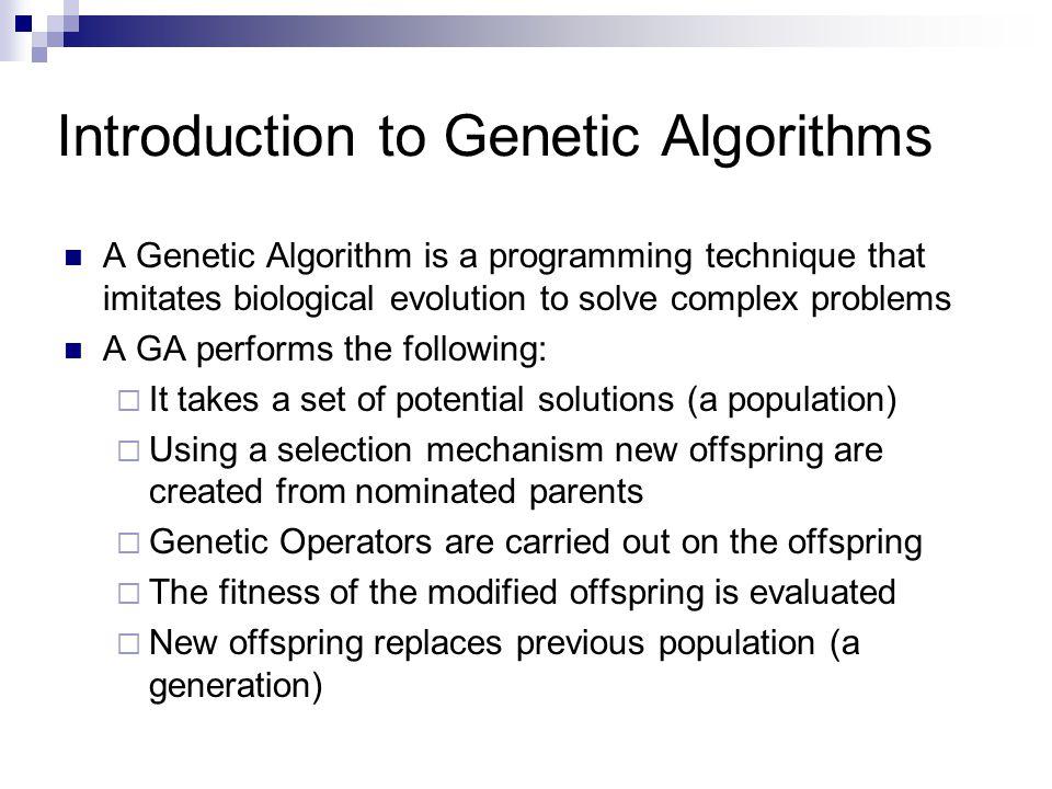 Flowchart of a Genetic Algorithm