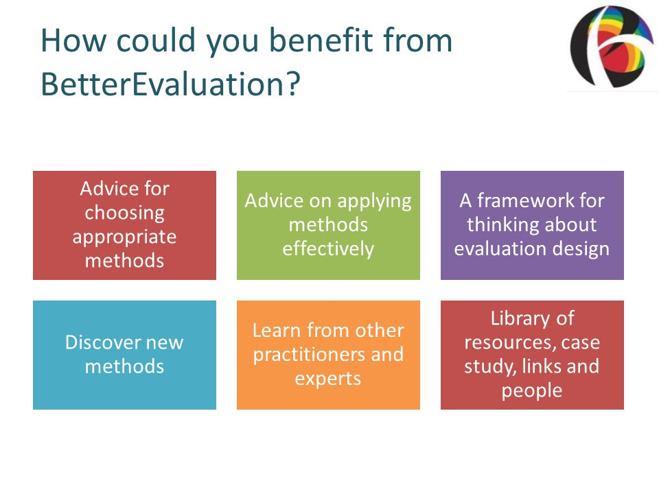 How could you benefit from BetterEvaluation.