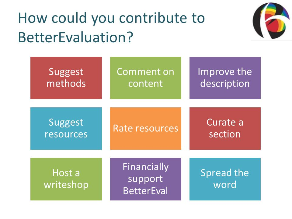 How could you contribute to BetterEvaluation.