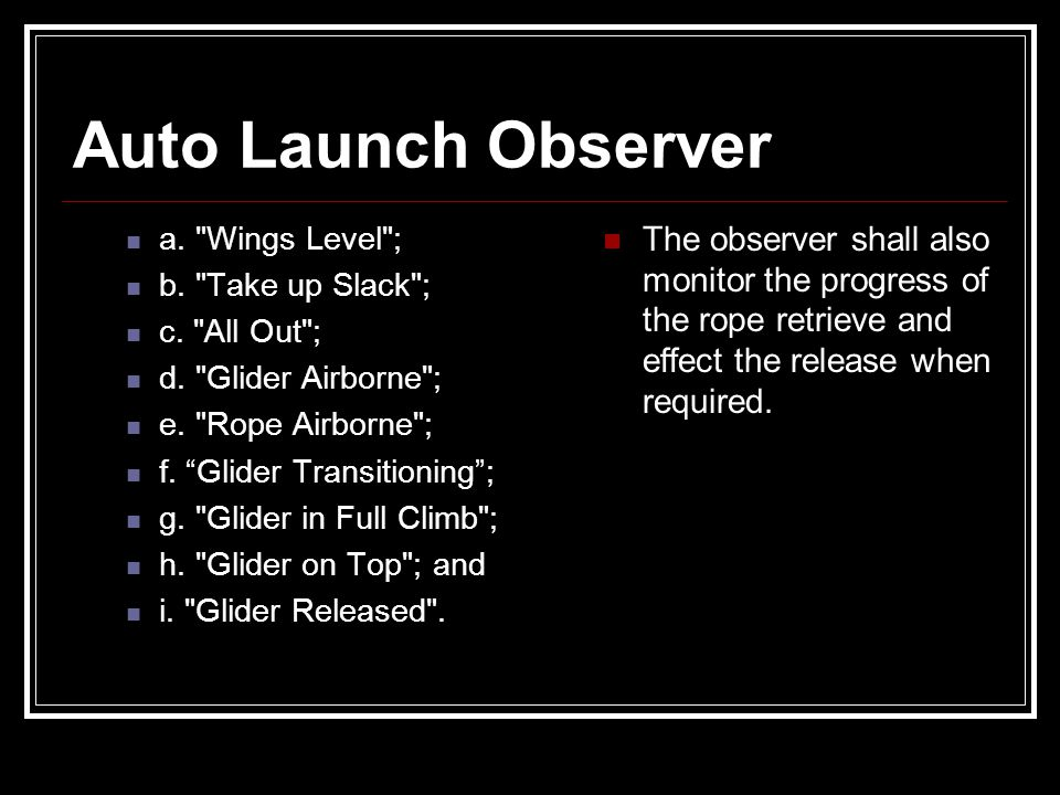 Auto Launch Observer a.