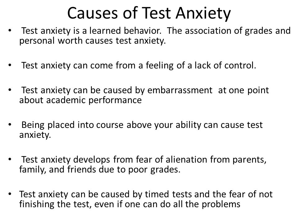 HOW TO REDUCE TEST ANXIETY Practice test anxiety reduction techniques.