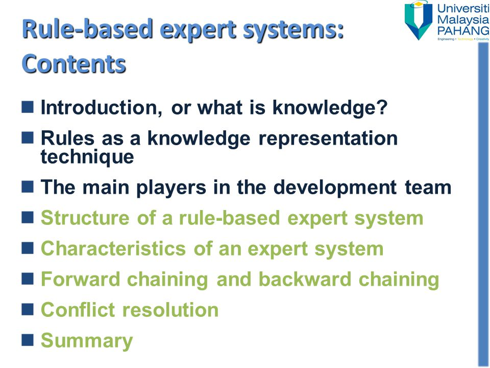 The inference engine carries out the reasoning whereby the expert system reaches a solution.