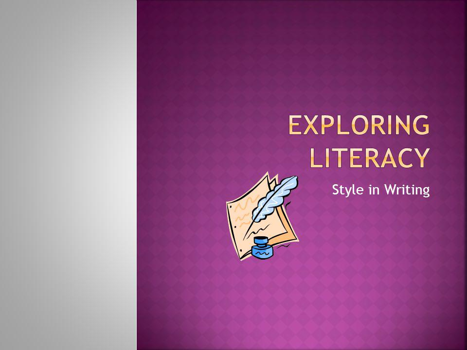 Writing styles and Reading Perceptions are influenced by our own life experiences.