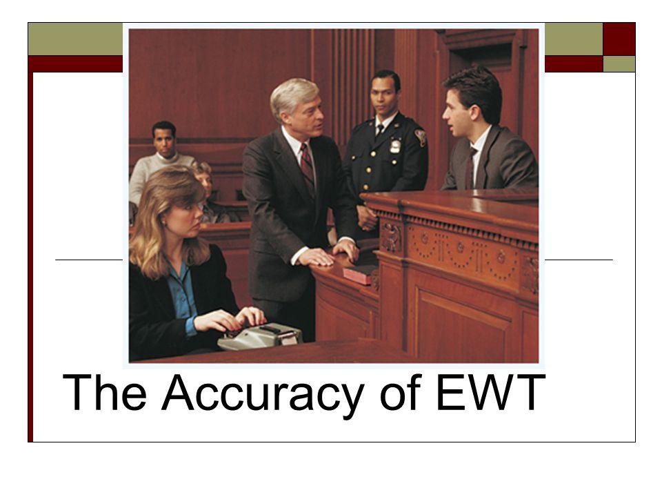 The Accuracy of EWT
