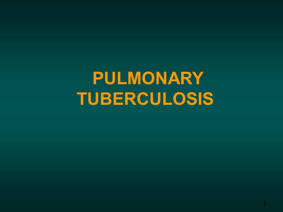 2 PULMONARY TUBERCULOSIS