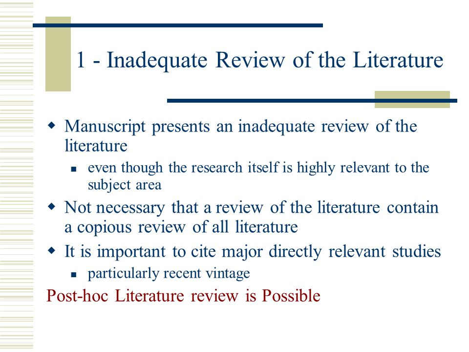 Review: Perfect Manuscript 1.Be well organized 2.Communicate to readers 3.Address alternate hypotheses and interpretation 4.Marshal support for choice of hypotheses, methods and interpretation of results 5.A minimum of pseudo-scientific jargon 6.Have an appropriate review of the literature 7.Use appropriately sophisticated statistical analyses 8.Appropriate claims for the scope and importance of the research