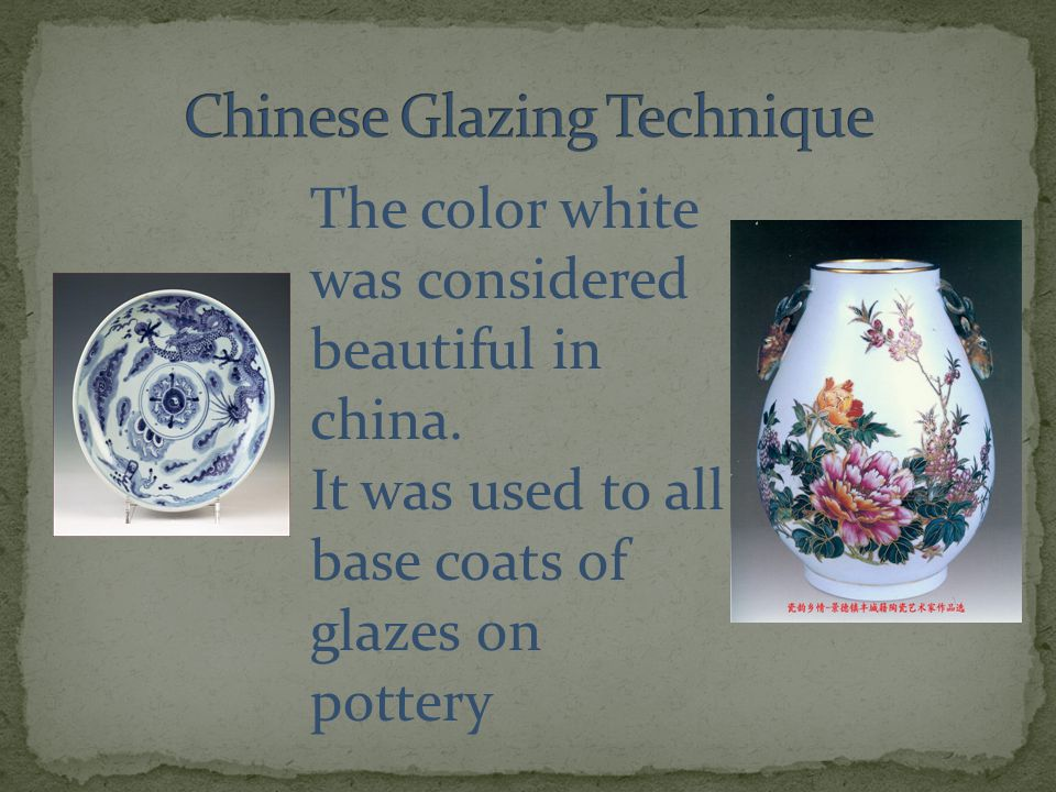 The color white was considered beautiful in china.