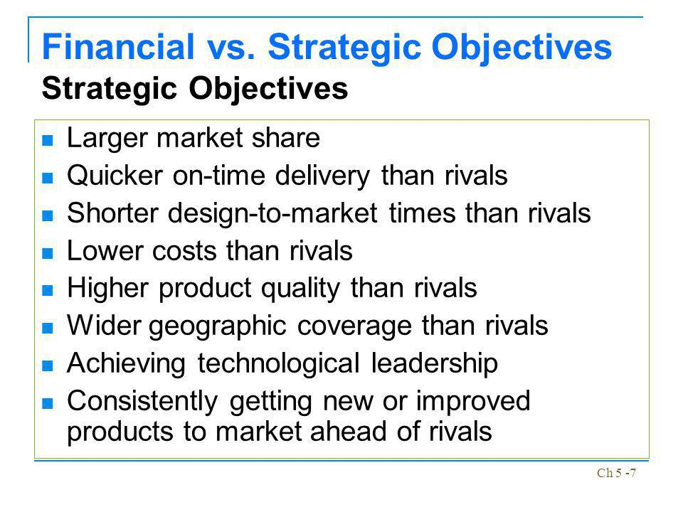 Ch 5 -8 Not Managing by Objectives Managing by Extrapolation – If it aint broke, dont fix it Managing by Crisis – The true measure of a good strategist is the ability to fix problems Managing by Subjectives – Do your own thing, the best way you know how Managing by Hope – The future is full of uncertainty and if at first you dont succeed, then you may on the second or third try