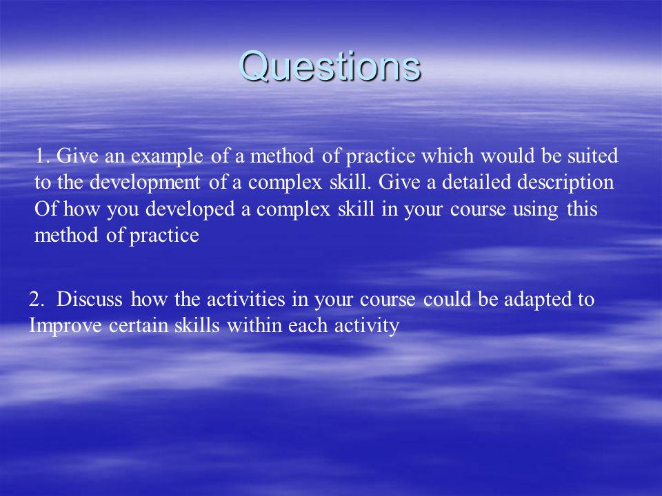 Questions 1.