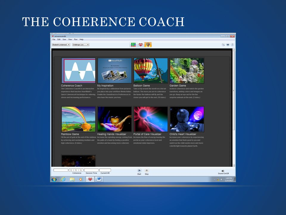 THE COHERENCE COACH