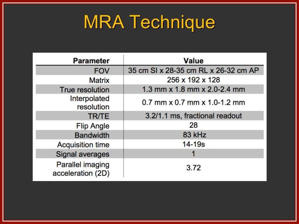 Slab Orientation Frequency encode long axis of slab (S/I) Sagittal slab excitation to minimize aliasing Freq encode arm torso