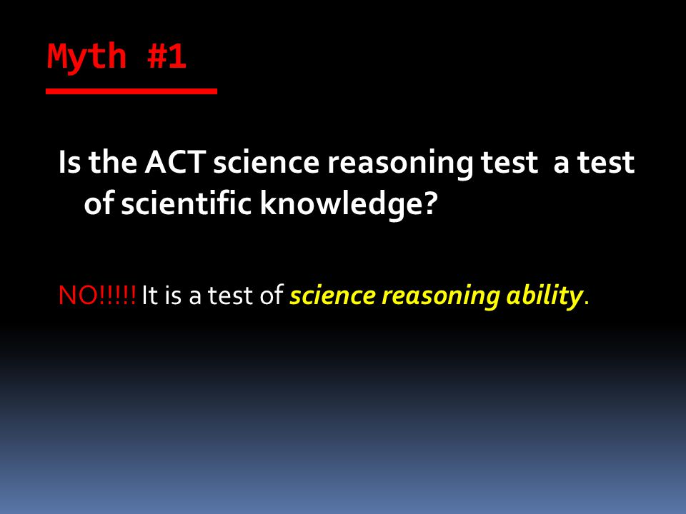 The ACT Science Reasoning Test is 35 minutes long.