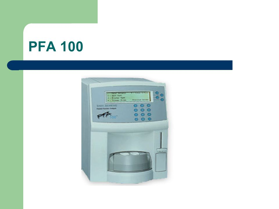 PFA 100
