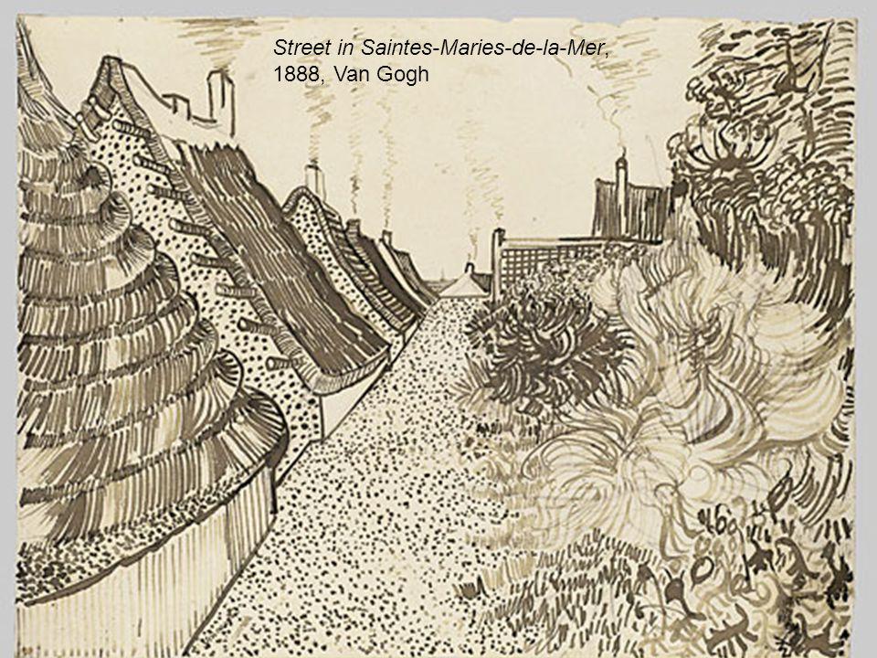 Street in Saintes-Maries-de-la-Mer, 1888, Van Gogh