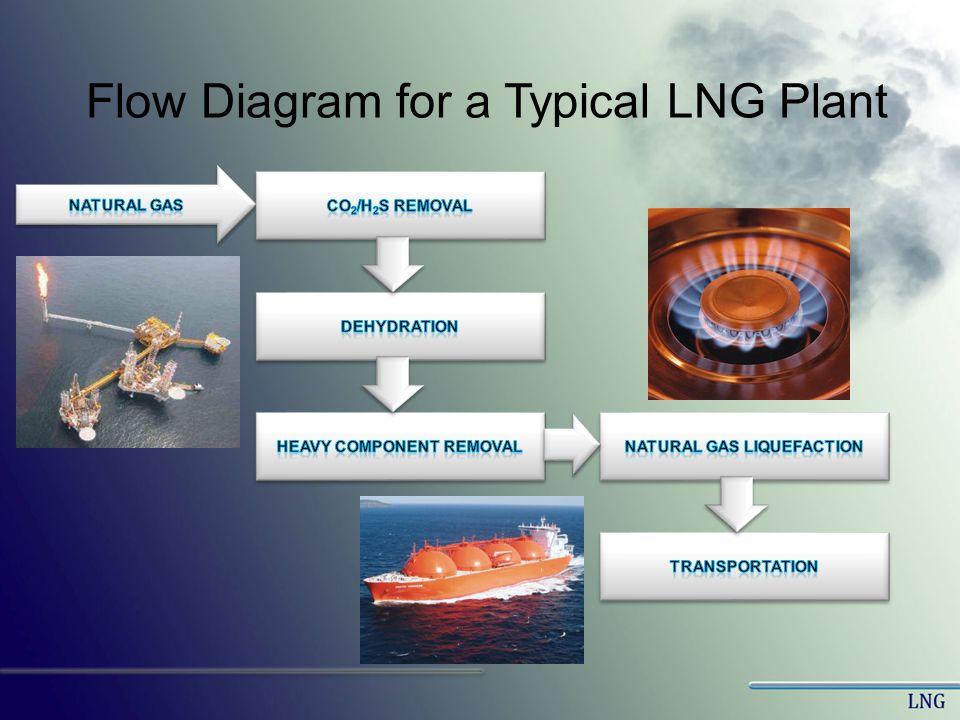 Flow Diagram for a Typical LNG Plant