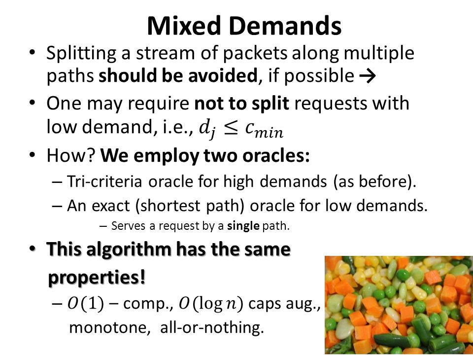 Mixed Demands