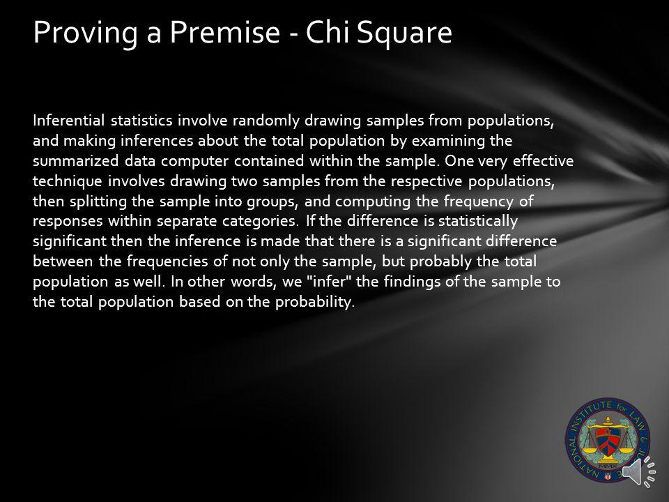 Proving a Premise – Chi Square