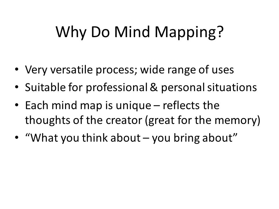 Why Do Mind Mapping.