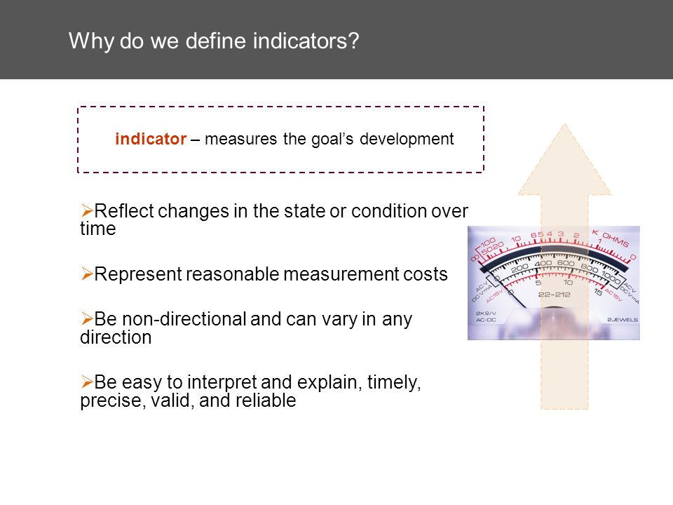 Why do we define indicators.