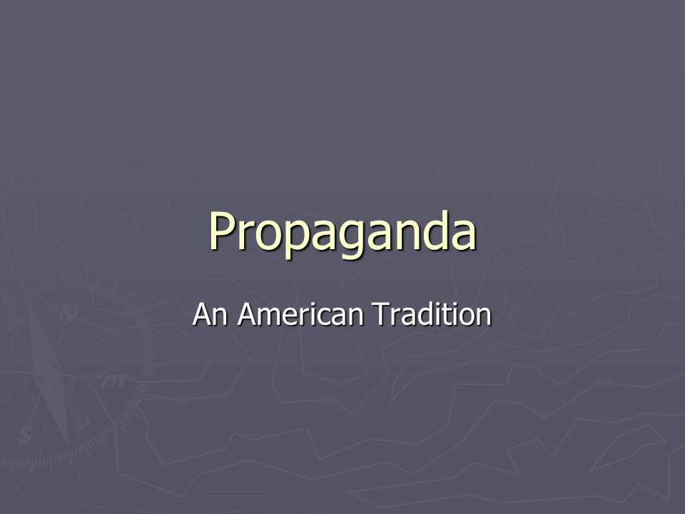 Propaganda Defined Information, either true or false, intended to persuade people to think or act in a certain way.