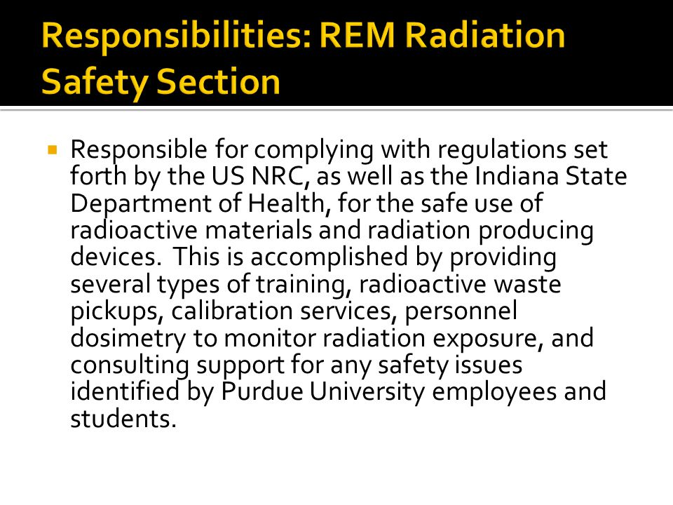 All radiation-labeled equipment must be certified HAZARD FREE prior to service or disposal Liquid scintillation counters, gamma counters, and gas chromatographs could contain radioactive sources Prior to moving out of an area and abandoning equipment - notify REM
