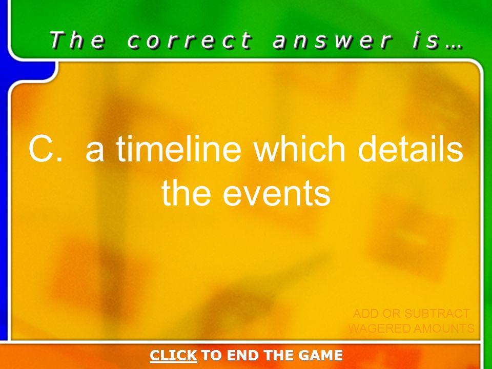 Last Answer T h e c o r r e c t a n s w e r i s … C.