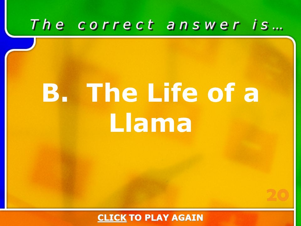 2:20 Answer T h e c o r r e c t a n s w e r i s … B.