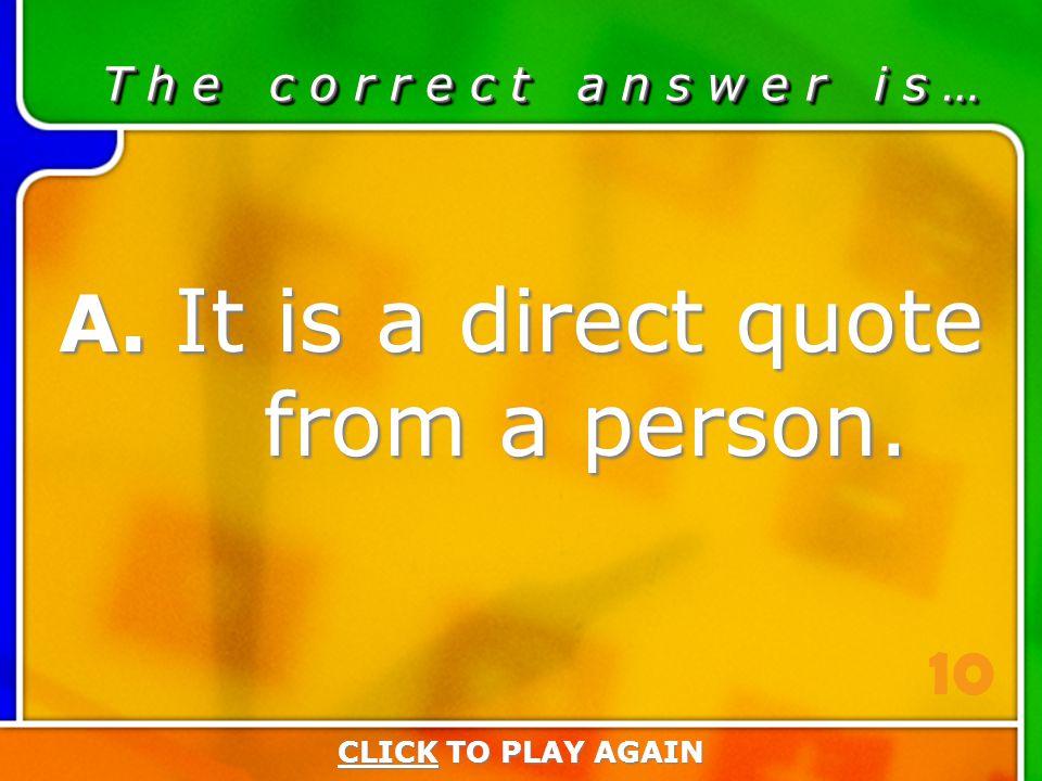 4:10 Answer T h e c o r r e c t a n s w e r i s … A.